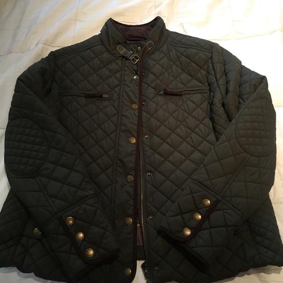 Boden Jackets Coats Dark Green Quilted Jacket Poshmark